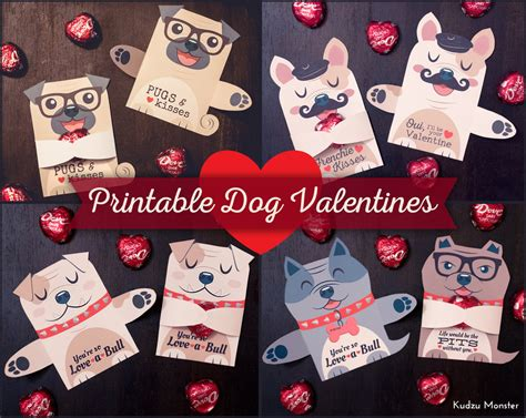 Maybe you would like to learn more about one of these? Dog Valentines Candy Huggers Printable Puppy Valentine cards | Etsy