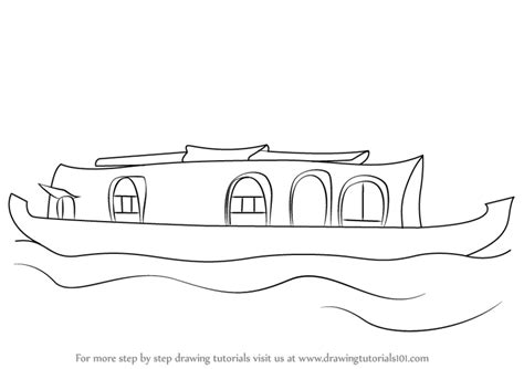 Boat Drawing Pictures by Learn How To Draw A Boat House Boats And Ships Step By