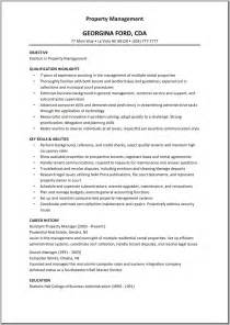 residential property manager resume residential property management resume free resume templates
