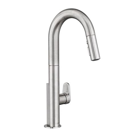 american standard single handle kitchen faucet american standard beale single handle pull down sprayer kitchen faucet in polished chrome