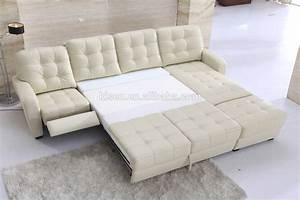 Leather sofa bed recliner hereo sofa for Leather sectional sofa with recliner and bed
