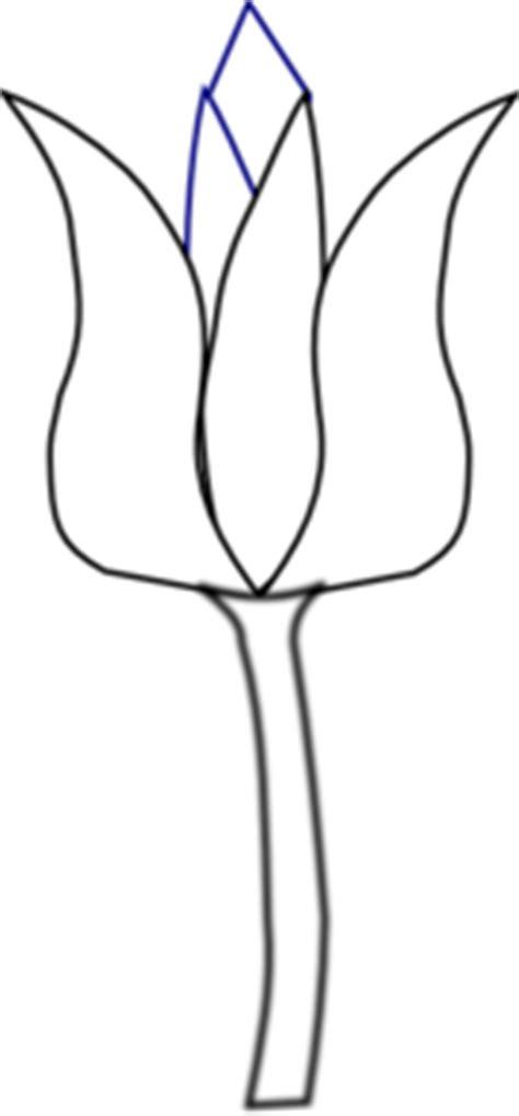 tulip clipart black and white tulip clip at clker vector clip