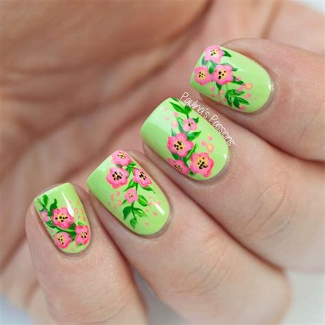 flower nail designs 30 pretty flower nail designs hative
