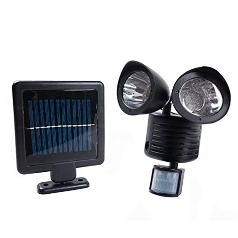 weanas 174 led motion security flood light solar energy