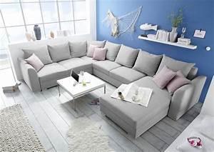 Möbel De Sofa : couch sofa eckcouch ecksofa schlafsofa schlafcouch wohnlandschaft 361cm hellgrau ebay ~ Eleganceandgraceweddings.com Haus und Dekorationen