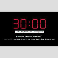 30 Minute Timer (1800 Seconds)  Online Timer