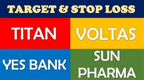 titan voltas  bank sun pharma technical analysis