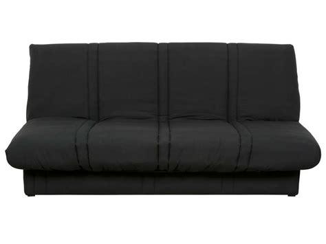 conforama canapé lit clic clac banquette clic clac en tissu coloris noir vente