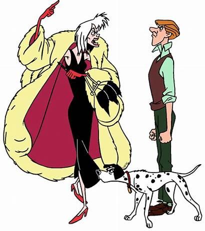 Cruella Roger Pongo 101 Dalmatians Vil 1961