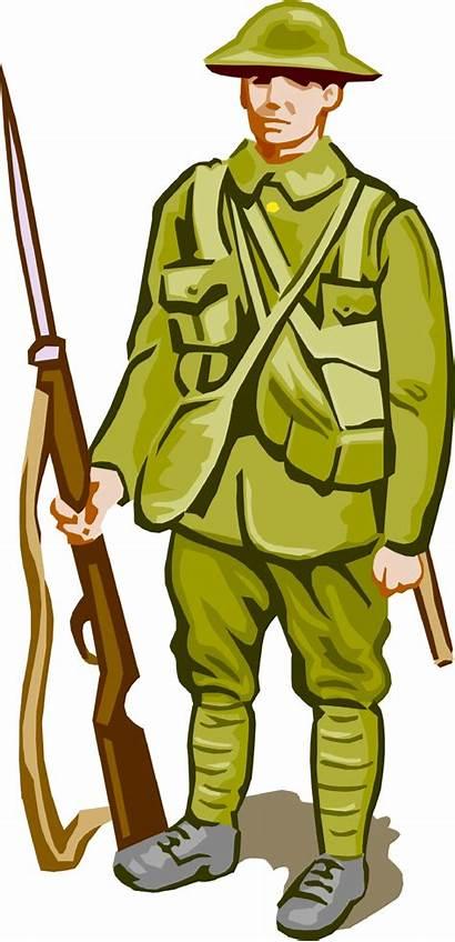 Cartoon Clipart Soldier War Clip Army American