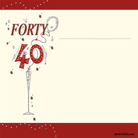 Free Printable 40th Birthday Invitations Bagvania FREE