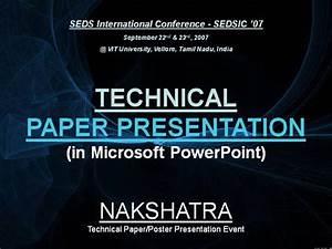 Technical Paper Presentation |authorSTREAM