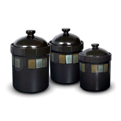 decorative kitchen canisters sets set of 3 sealed canisters pfaltzgraff