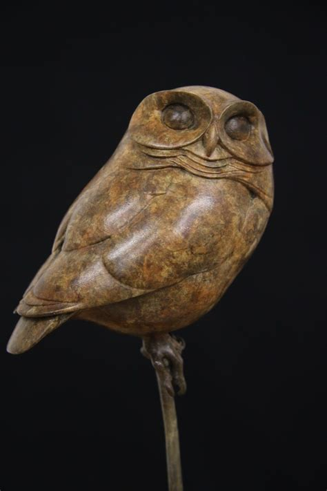 bronze  owl adam binder sculptures