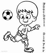 Football Coloring Pages Player Soccer Players Sports Printable Playing Print Drawing Drawings Cool2bkids Nfl Sheets Colouring Subject Ball Neymar Jersey sketch template