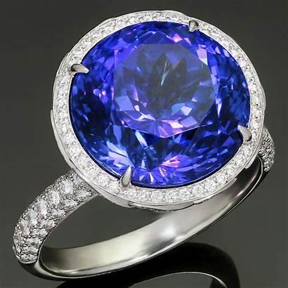 Tiffany Jewelry Ring Tanzanite Diamond Platinum Cocktail