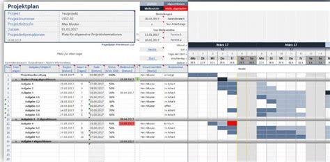 projektplan excel  freewarede