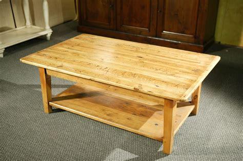 custom wood coffee tables  shelf  straight legs