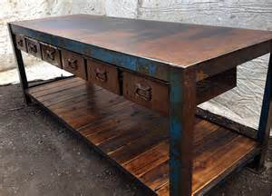 handmade kitchen island the junk map edgy industrial furniture and vintage