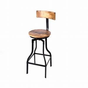 Barhocker 85 Cm Sitzhöhe : barhocker aus massivholz im industriedesign 76 cm sitzh he ~ Indierocktalk.com Haus und Dekorationen