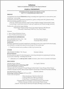 esthetician sample resume best resume gallery With esthetician resume template