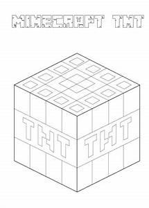 Ausmalbild Minecraft TNT Ausmalbilder Kostenlos Zum
