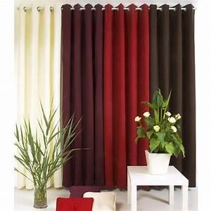 Rideau Occultant Thermique : rideau occultant thermique 135 x h250 cm taupe rideau ~ Premium-room.com Idées de Décoration