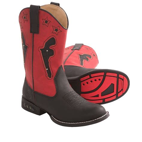light up boots roper western light up cowboy boots faux leather
