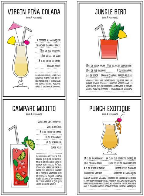 jeux gratuit cuisine de gratuit nos fiches de cocktails à imprimer prima