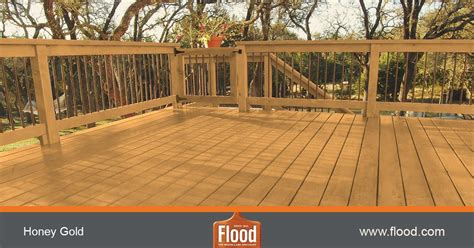 Flood Cwf Deck Stain Colors by Honey Gold