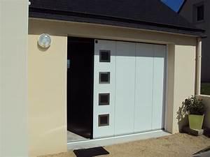 porte de garage coulissante laterale isolee i manuelle ou With porte de garage isolée