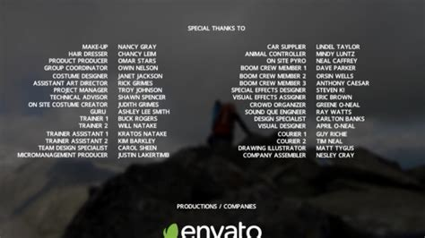 Tv Credits Template by Film Credits By Zerolink Videohive