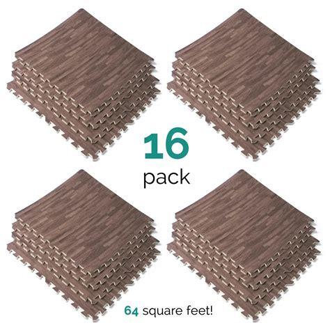 Interlocking EVA Foam Wood Grain Puzzle Mat Floor Tiles 64