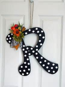 Front Door Monogram Wooden Letters