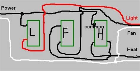 Wiring Three Switches For Bathroom Exhaust Fan Light