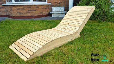 chaise longue en bois chaise longue de jardin bricolage et diy chaise longue jardin chaise longue bois et