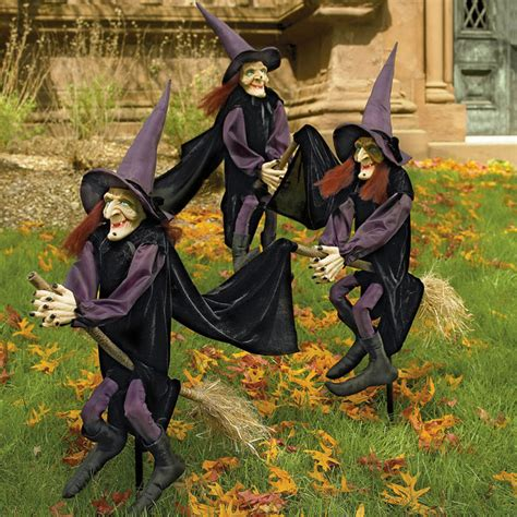 Halloween Witch Yard Stakes by Staked Yard Witches The Green Head