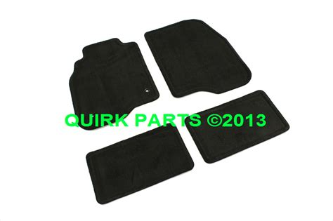 2010 Chevy Malibu Floor Mats by 2005 2012 Chevy Pontiac Front Rear Black Carpet