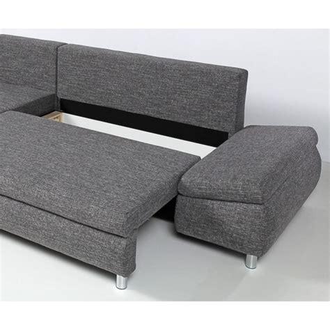 canape d angle gauche pas cher naho canap 233 d angle gauche convertible 4 places coffre 278x152x90 cm tissu gris achat