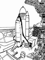 Coloring Space Spaceship Pages Launch Travel Drawing Prepare Before Getdrawings sketch template