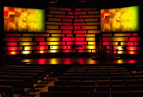 candles  horizontals church stage design ideas