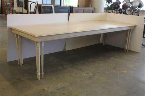 Long Custom Made Wood Table At 1stdibs