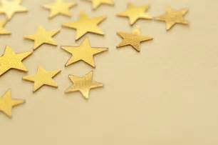 Gold Star Yellow Background