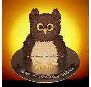 3D Buttercream Owl Cake  CakeCentralcom