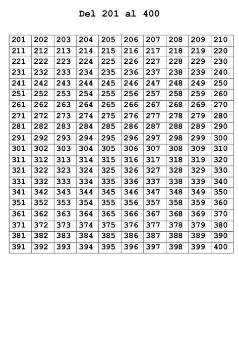 numeros del  al  math charts math strategies
