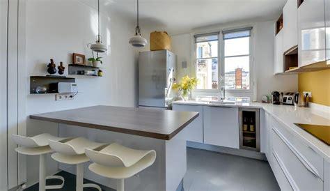 cuisine moderne avec îlot en épi modèle harmonie