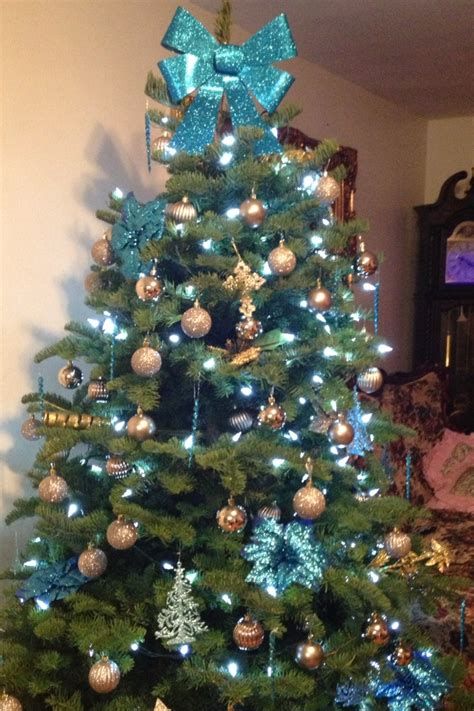 blue and gold christmas trees blue and gold tree our