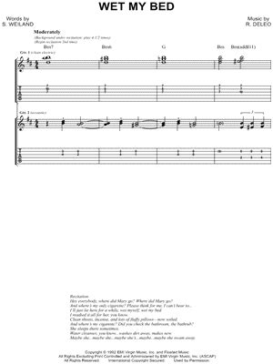 Temple Pilots My Bed by Temple Pilots Quot My Bed Quot Guitar Tab Print