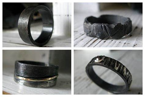 Black Wedding And Engagement Rings From The Dark Side