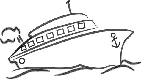 Ship Animation by Man Sketching Ship Speed Boat On Whiteboard Background